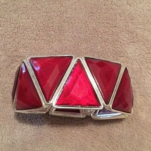 Jewelry - Bracelet - burgundy red with silver trim